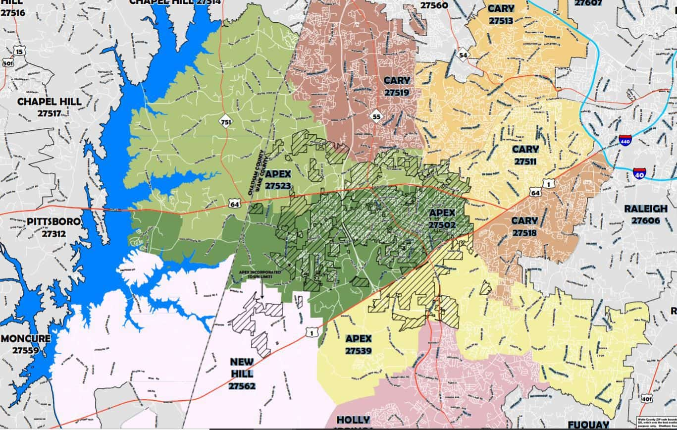 zipcode-map-for-town-of-apex-from-town-of-apex-website