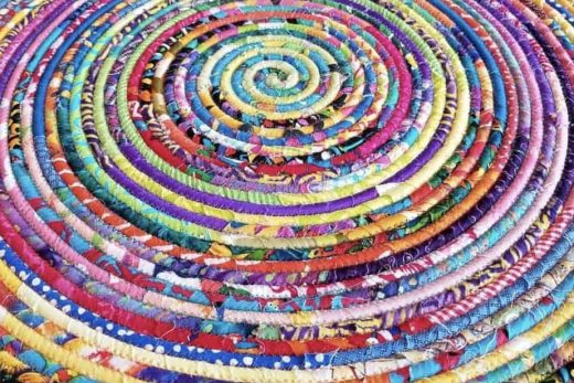 multicolored-spiral-rug-for-sale-at-cocoon-gallery-in-apex-nc